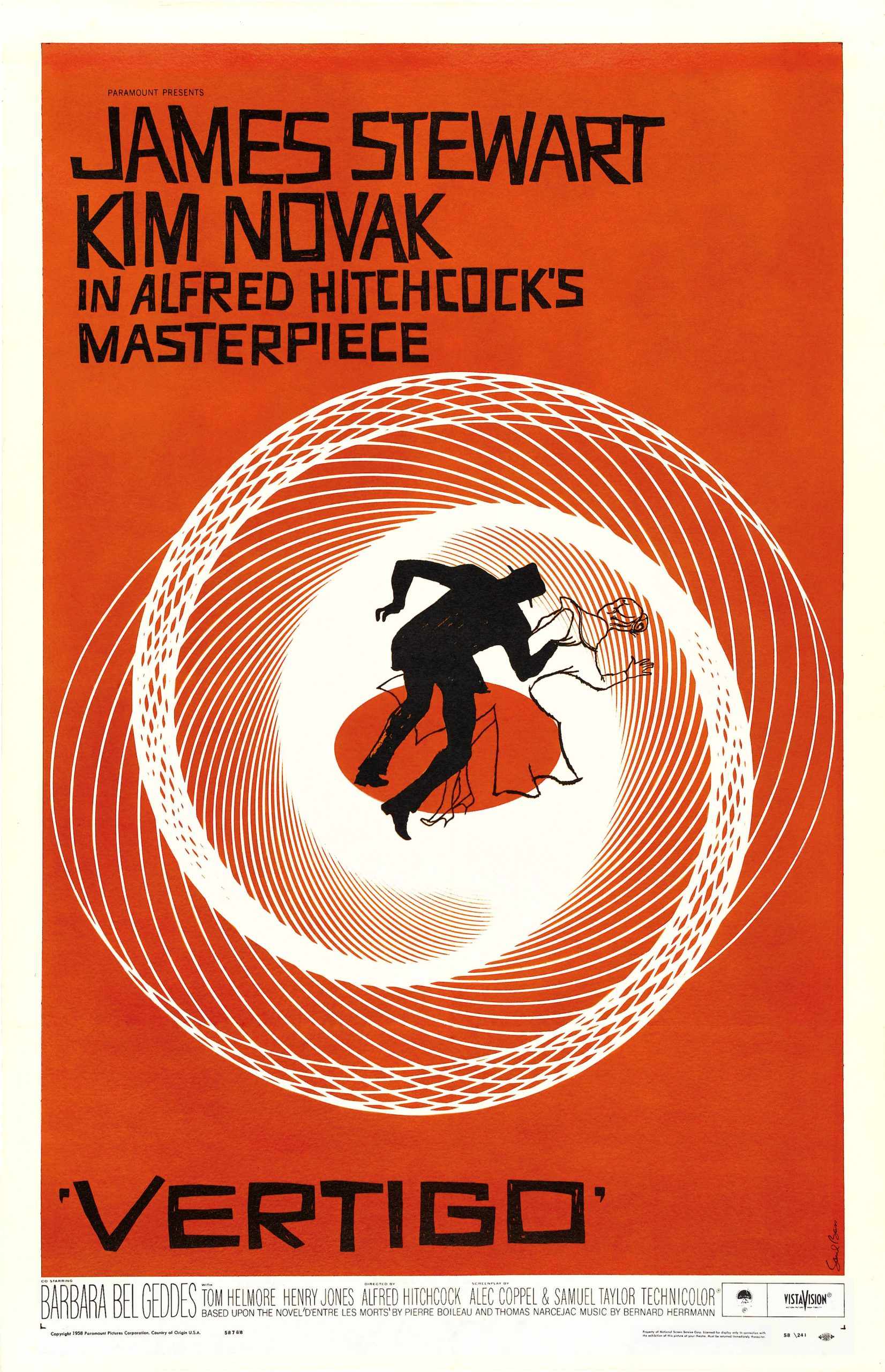 illustrational poster of a man and woman disappearing into a vortex