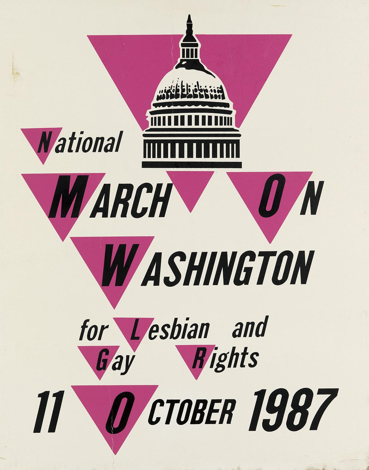 official poster for the National March on Washington for Lesbian Gay Rights on October 11, 1987
