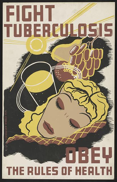 Illustrational poster with mixed images of a sleeping woman, glass of water, sunlight, and more