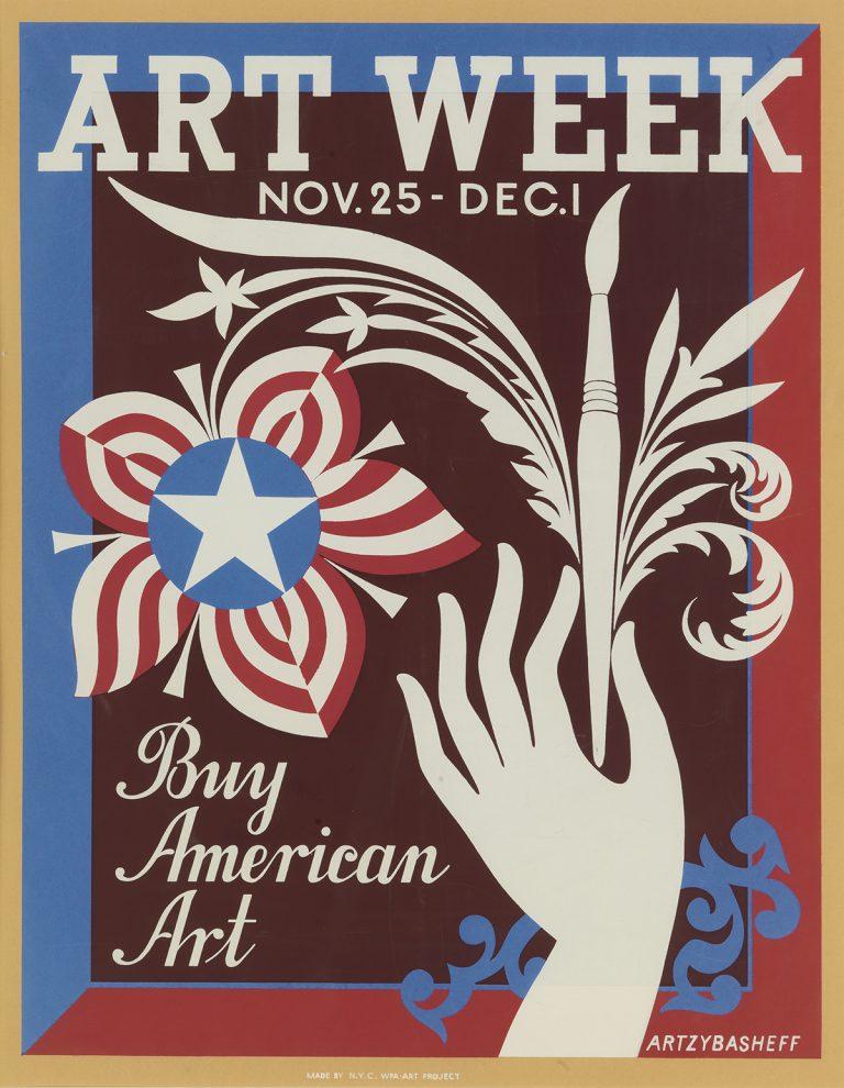 illustrational poster for art week in America