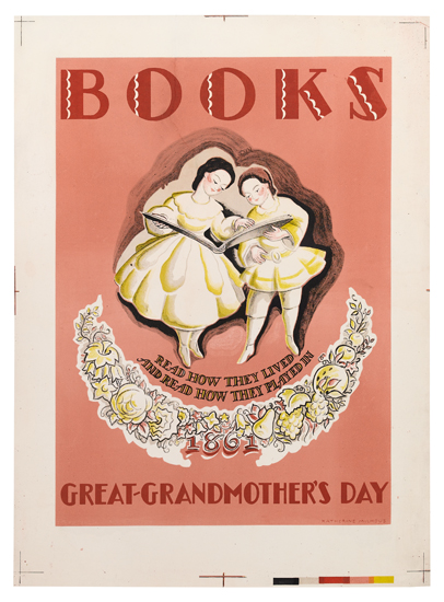illustrational poster about reading books on your great-grandmother's lived experience