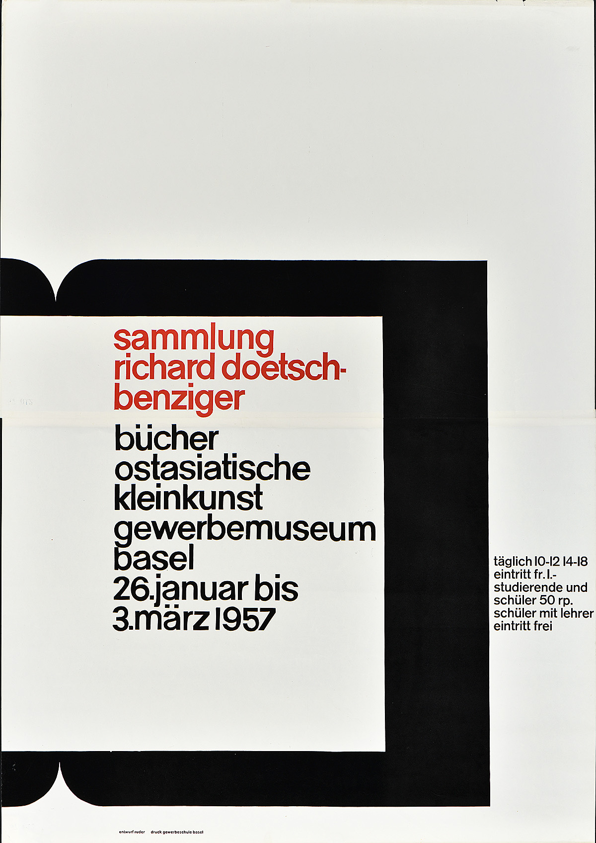 type-based poster for an event with red and black text inside a geometric shape