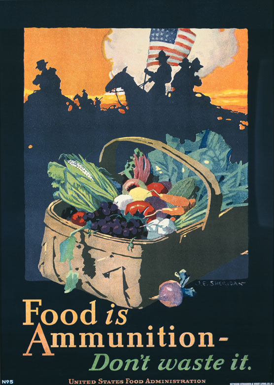 illustrational poster of a picnic basket with fruits and vegetables