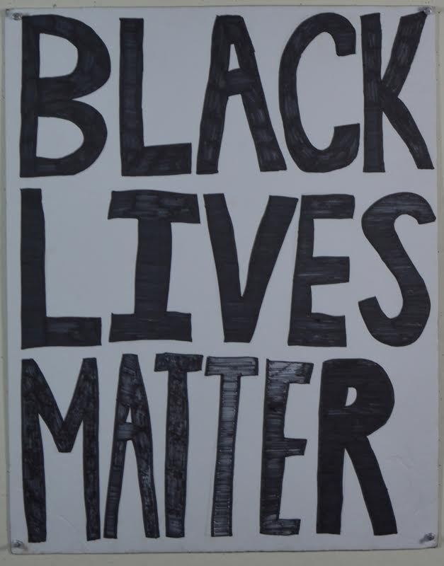 hand drawn poster stating black lives matter