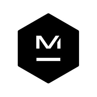 Master and Dynamic Logo, a black physical shape with the letter M and a dash beneath