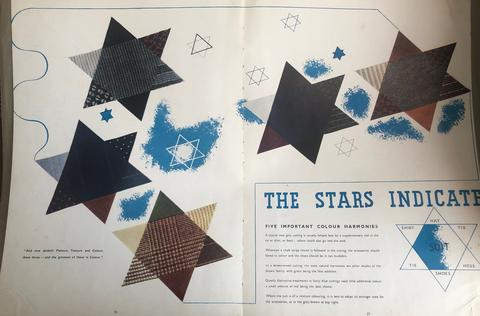 printed jewish stars on a magazine spread