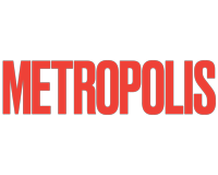 Metropolis Magazine logo in red