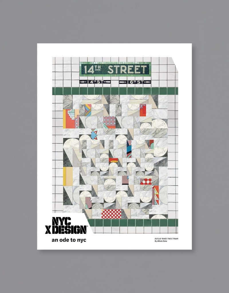 A poster of the New York subway wall mosaic art at 14th Street.