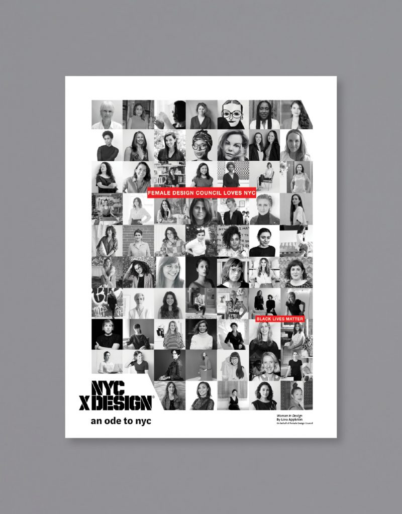 A poster showing a lot of black and white photos of women. texts say,