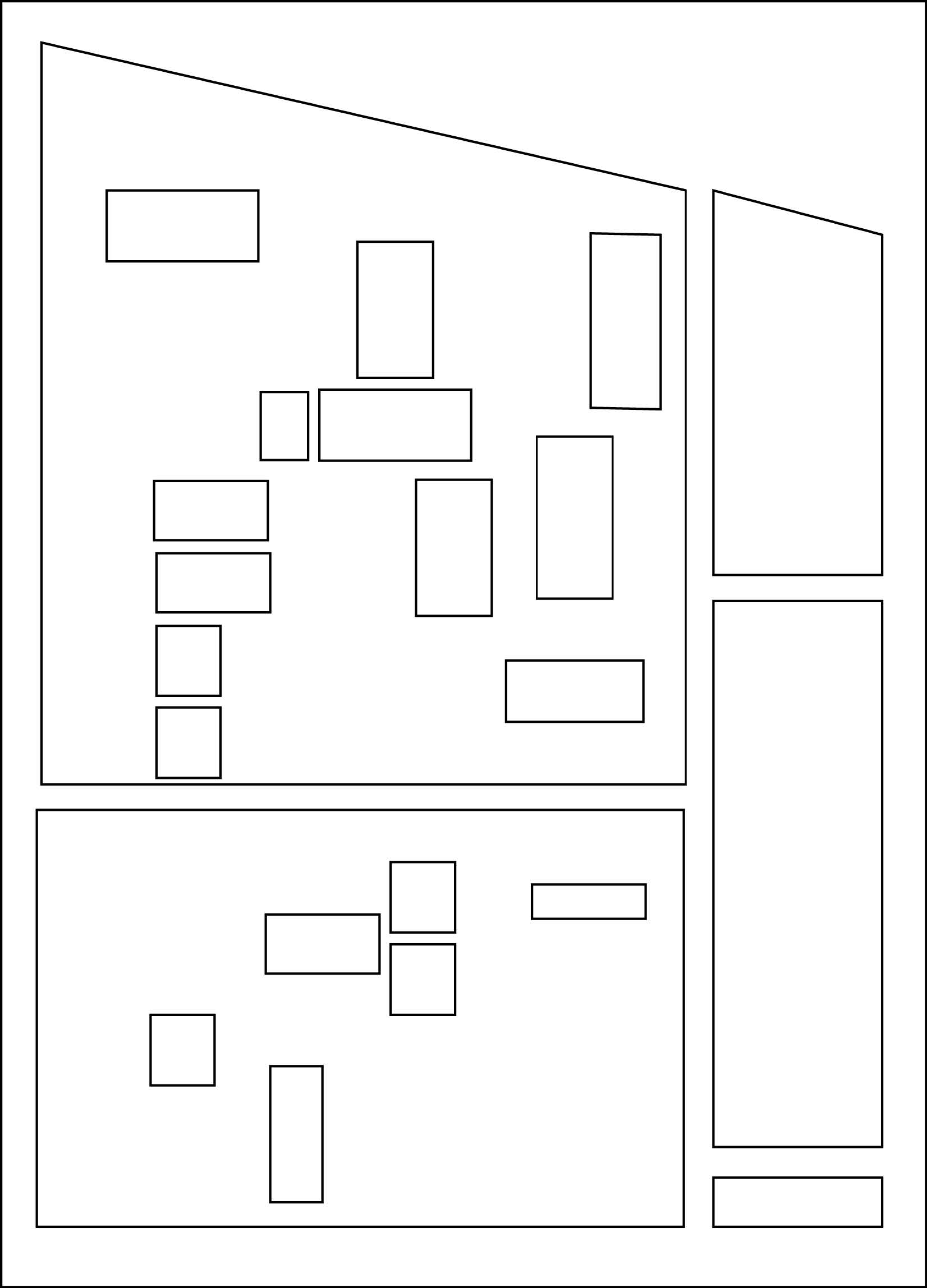 Compositional grid based on aerial grid of palace of Chief in Logone-Birni, Cameroon